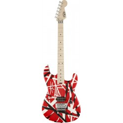 Evh Stripe Series Red With Black & White Stripes
