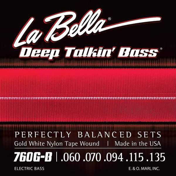 La Bella 760G-B Gold White Nylon