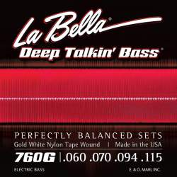 La Bella 760G Gold White Nylon