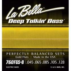 La Bella 760FGS-B Gold Flats