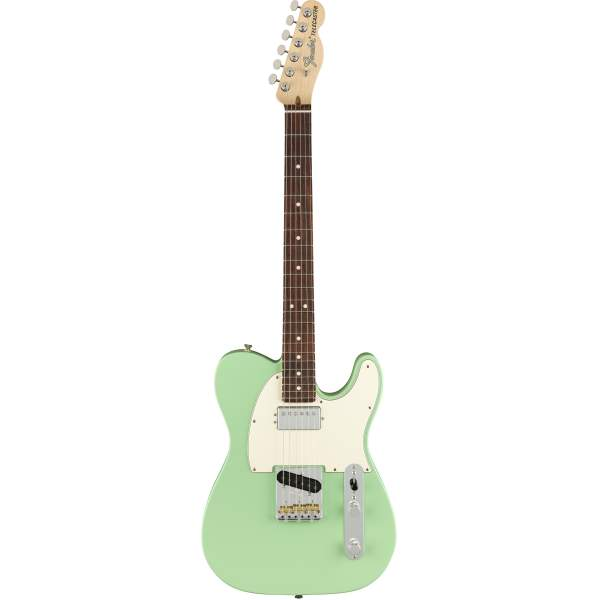 FENDER AMERICAN PERFORMER TELECASTER WITH HUMBUCKING, ROSEWOOD FINGERBOARD, SATIN SURF GREEN