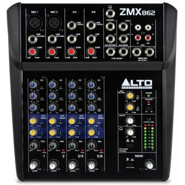 Компактные микшерные пульты Alto Zephyr ZMX862 - 1